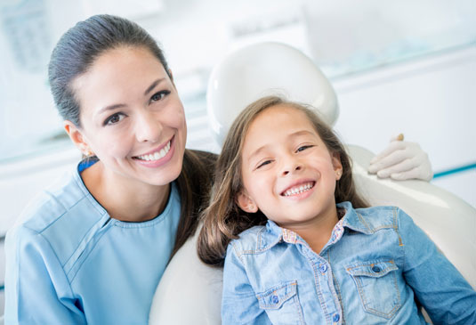 Child smiling at Dentist
