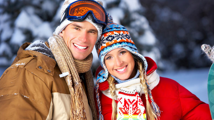 Couple Smiling with Straight Teeth