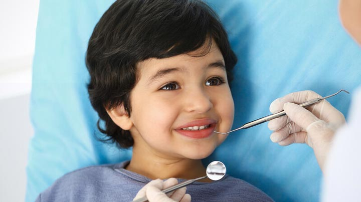 Child with Cavity at Dentist