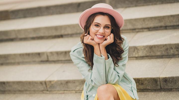 woman smiling veneers