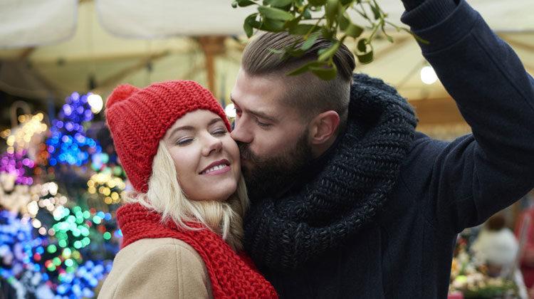 Kissing Under Mistletoe