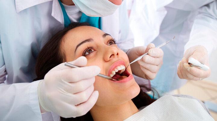 Dental Filling on Woman